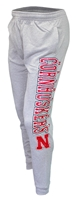 Cornhuskers Cuffed Knit Pant Nebraska Cornhuskers, Nebraska  Shorts Pants & Skirts, Huskers  Shorts Pants & Skirts, Nebraska Gray Mens Cuffed Knit Pant CS, Huskers Gray Mens Cuffed Knit Pant CS