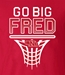 Go Big Fred Husker Hoops Tee - AT-C3999