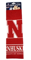 Go Big Red Burp Cloth Nebraska Cornhuskers, Nebraska  Infant, Huskers  Infant, Nebraska  Kids, Huskers  Kids, Nebraska Go Big Red Burp Cloth, Huskers Go Big Red Burp Cloth