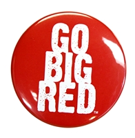 Go Big Red Button Nebraska Cornhuskers, Nebraska  Beads & Fun Stuff, Huskers  Beads & Fun Stuff, Nebraska  Novelty, Huskers  Novelty, Nebraska Red 3 inch GBR Button CS, Huskers Red 3 inch GBR Button CS