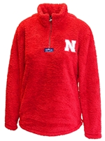 Go Big Red Ladies Quarter Zip Sherpa Nebraska Cornhuskers, Nebraska  Ladies Outerwear, Huskers  Ladies Outerwear, Nebraska  Ladies, Huskers  Ladies, Nebraska Go Big Red Ladies Quarter Zip Sherpa, Huskers Go Big Red Ladies Quarter Zip Sherpa