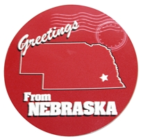Greetings Circle Nebraska State Magnet Nebraska Cornhuskers, Nebraska Stickers Decals & Magnets, Huskers Stickers Decals & Magnets, Nebraska Greetings Circle Nebraska State Magnet, Huskers Greetings Circle Nebraska State Magnet