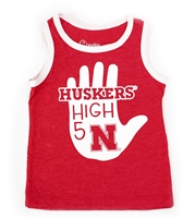 High 5 Lil Huskers Tank Top Nebraska Cornhuskers, Nebraska  Infant, Huskers  Infant, Nebraska  Childrens, Huskers  Childrens, Nebraska High 5 Huskers Tank Top CP, Huskers High 5 Huskers Tank Top CP