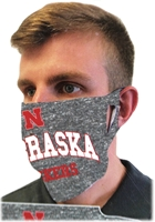 Grey Husker Fan Mask Nebraska Cornhuskers, Nebraska  Ladies, Huskers  Ladies, Nebraska  Mens, Huskers  Mens, Nebraska  Mens Accessories, Huskers  Mens Accessories, Nebraska  Ladies Accessories, Huskers  Ladies Accessories, Nebraska Nebraska Huskers Mask, Huskers Nebraska Huskers Mask