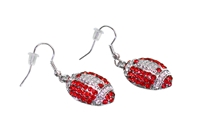 Husker Football Earrings Nebraska Cornhuskers, husker football, nebraska cornhuskers merchandise, nebraska merchandise, husker merchandise, nebraska cornhuskers apparel, husker apparel, nebraska apparel, husker womens apparel, nebraska cornhuskers womens apparel, nebraska womens apparel, husker womens merchandise, nebraska cornhuskers womens merchandise, womens nebraska accessories, womens husker accessories, womens nebraska cornhusker accessories,Nebraska Red and Clear Football Earrings