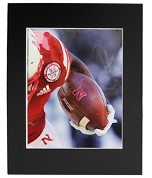 Husker Football Player Hold Matted Print Nebraska Cornhuskers, Nebraska  Prints & Posters, Huskers  Prints & Posters, Nebraska Husker Football Player Hold Matted Print, Huskers Husker Football Player Hold Matted Print