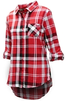 Husker Gals Boyfriend Plaid Button Up - Red Nebraska Cornhuskers, Nebraska  Ladies Tops, Huskers  Ladies Tops, Nebraska  Ladies Polos, Huskers  Ladies Polos, Nebraska Husker Gals Boyfriend Plaid Button Up - Red, Huskers Husker Gals Boyfriend Plaid Button Up - Red