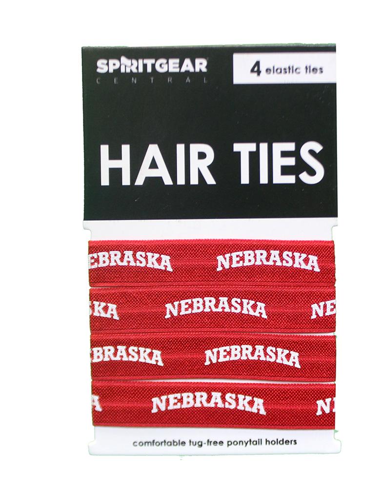 Nebraska Huskers Cornhuskers Set of Five No Pull No Crease FOE Hair Ties