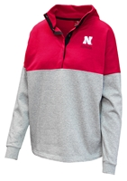 Husker Ladies Colorblock 1/2 Snap Jacket Nebraska Cornhuskers, Nebraska  Ladies, Huskers  Ladies, Nebraska  Ladies Outerwear, Huskers  Ladies Outerwear, Nebraska Husker Ladies Colorblock 1/2 Snap Jacket, Huskers Husker Ladies Colorblock 1/2 Snap Jacket