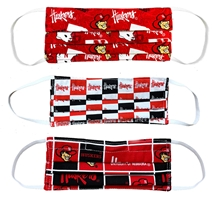 Husker Mask 3 Pack Nebraska Cornhuskers, Nebraska  Ladies, Huskers  Ladies, Nebraska  Mens, Huskers  Mens, Nebraska  Mens Accessories, Huskers  Mens Accessories, Nebraska  Ladies Accessories, Huskers  Ladies Accessories, Nebraska  Novelty, Huskers  Novelty, Nebraska Huskers Reversible Mask, Huskers Huskers Reversible Mask