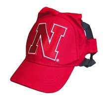 Husker Pet Baseball Hat Nebraska Cornhuskers, Nebraska Pet Items, Huskers Pet Items, Nebraska Husker Pet Baseball Hat, Huskers Husker Pet Baseball Hat