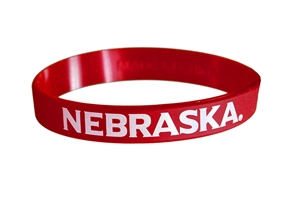 Husker Rubber Wrist Band Nebraska Cornhuskers, husker football, nebraska cornhuskers merchandise, nebraska merchandise, husker merchandise, nebraska cornhuskers apparel, husker apparel, nebraska apparel, husker mens apparel, nebraska cornhuskers mens apparel, nebraska mens apparel, husker mens merchandise, nebraska cornhuskers mens merchandise, mens nebraska accessories, mens husker accessories, mens nebraska cornhusker accessories,Red Huskers Rubber Wrist Band
