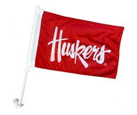 Husker Script Car Flag Nebraska Cornhuskers, Nebraska Vehicle, Huskers Vehicle, Nebraska  Flags & Windsocks, Huskers  Flags & Windsocks, Nebraska Husker Script Car Flag, Huskers Husker Script Car Flag