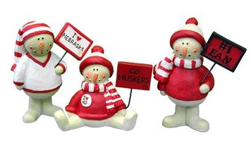 Husker Signs Snowmen Set Nebraska Cornhuskers, Nebraska  Holiday Items, Huskers  Holiday Items, Nebraska  Office Den & Entry, Huskers  Office Den & Entry, Nebraska Husker Signs Snowmen Set, Huskers Husker Signs Snowmen Set