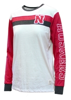 Husker Womens Two Stripe LS Tee Nebraska Cornhuskers, Nebraska  Ladies Tops, Huskers  Ladies Tops, Nebraska  Ladies T-Shirts, Huskers  Ladies T-Shirts, Nebraska  Long Sleeve, Huskers  Long Sleeve, Nebraska  Ladies, Huskers  Ladies, Nebraska Husker Womens Two Stripe LS Tee, Huskers Husker Womens Two Stripe LS Tee