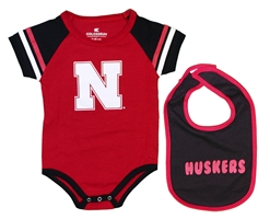 Huskers Infant Warner Onesie Bib Set Nebraska Cornhuskers, Nebraska  Infant, Huskers  Infant, Nebraska Huskers Infant Warner Onesie Bib Set, Huskers Huskers Infant Warner Onesie Bib Set