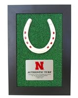 Huskers Lucky Turf Plaque Nebraska Cornhuskers, Nebraska  Framed Pieces, Huskers  Framed Pieces, Nebraska Collectibles, Huskers Collectibles, Nebraska Huskers Lucky Turf Plaque, Huskers Huskers Lucky Turf Plaque