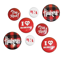Huskers Multi-Pack Button Set  Nebraska Cornhuskers, Nebraska  Beads & Fun Stuff, Huskers  Beads & Fun Stuff, Nebraska  Beads & Fun Stuff , Huskers  Beads & Fun Stuff , Nebraska Huskers 4 Pack Button Set, Huskers Huskers 4 Pack Button Set