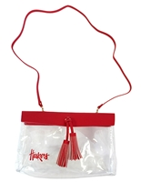 Huskers Rara Tassel Stadium Purse Nebraska Cornhuskers, Nebraska  Bags Purses & Wallets, Huskers  Bags Purses & Wallets, Nebraska  Ladies, Huskers  Ladies, Nebraska  Tailgating, Huskers  Tailgating, Nebraska  Ladies Accessories, Huskers  Ladies Accessories, Nebraska Clear Huskers Rara Tassel Purse, Huskers Clear Huskers Rara Tassel Purse
