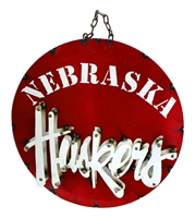 Huskers Recycled Round Wheel Wall Sign Nebraska Cornhuskers, Nebraska  Game Room & Big Red Room, Huskers  Game Room & Big Red Room, Nebraska  Patio, Lawn & Garden, Huskers  Patio, Lawn & Garden, Nebraska Wall Decor, Huskers Wall Decor, Nebraska Huskers Recycled Round Wheel Wall Sign, Huskers Huskers Recycled Round Wheel Wall Sign