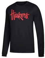 Huskers Script LS Tee - Black Nebraska Cornhuskers, Nebraska  Mens, Huskers  Mens, Nebraska  Long Sleeve, Huskers  Long Sleeve, Nebraska  Mens T-Shirts, Huskers  Mens T-Shirts, Nebraska Blackout!, Huskers Blackout!, Nebraska Huskers Script LS Tee - Black, Huskers Huskers Script LS Tee - Black