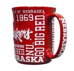 Huskers Sculpted Spirit Mug Nebraska Cornhuskers, Nebraska  Kitchen & Glassware, Huskers  Kitchen & Glassware, Nebraska Huskers Sculpted Spirit Mug, Huskers Huskers Sculpted Spirit Mug