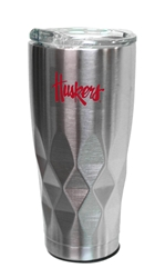 Huskers Stainless Steel Diamond Tumbler Nebraska Cornhuskers, Nebraska  Kitchen & Glassware, Huskers  Kitchen & Glassware, Nebraska Vehicle, Huskers Vehicle, Nebraska Huskers Stainless Steel Diamond Tumbler, Huskers Huskers Stainless Steel Diamond Tumbler