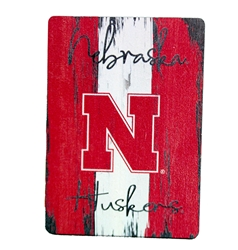 Huskers Stripe Wood Magnet Nebraska Cornhuskers, Nebraska Stickers Decals & Magnets, Huskers Stickers Decals & Magnets, Nebraska Huskers Stripe Wood Magnet, Huskers Huskers Stripe Wood Magnet