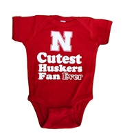 Infant Cutest Nebraska Fan Onesie Nebraska Cornhuskers, Nebraska  Infant, Huskers  Infant, Nebraska Infant Cutest Nebraska Fan Onesie, Huskers Infant Cutest Nebraska Fan Onesie