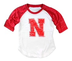Infant Girls Lets Go Huskers Raglan Nebraska Cornhuskers, Nebraska  Infant, Huskers  Infant, Nebraska  Kids, Huskers  Kids, Nebraska Infant Girls Lets Go Huskers Raglan, Huskers Infant Girls Lets Go Huskers Raglan