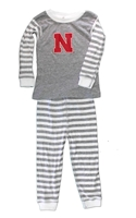 Infant N Toddler Striped Pajama Set Nebraska Cornhuskers, Nebraska  Infant, Huskers  Infant, Nebraska  Children, Huskers  Children, Nebraska Infant N Toddler Striped Pajama Set, Huskers Infant N Toddler Striped Pajama Set