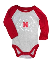 Infants Iron N LS Raglan Hopper Nebraska Cornhuskers, Nebraska  Infant, Huskers  Infant, Nebraska Infants Iron N LS Raglan Hopper, Huskers Infants Iron N LS Raglan Hopper