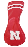 Iron N Leather Fairway Wood Cover Nebraska Cornhuskers, Nebraska Golf Items, Huskers Golf Items, Nebraska Iron N Leather Fairway Wood Cover, Huskers Iron N Leather Fairway Wood Cover