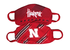 Kids 2 Pack Husker Face Masks Colosseum Nebraska Cornhuskers, Nebraska  Toys & Games, Huskers  Toys & Games, Nebraska Nebraska Kids Face Mask, Huskers Nebraska Children Face Mask