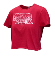 Ladies Nebraska State Crop Tee Nebraska Cornhuskers, Nebraska  Short Sleeve, Huskers  Short Sleeve, Nebraska  Ladies, Huskers  Ladies, Nebraska  Ladies T-Shirts , Huskers  Ladies T-Shirts , Nebraska Ladies Nebraska State Crop Tee, Huskers Ladies Nebraska State Crop Tee