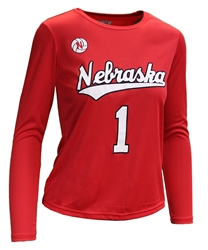 Ladies Nebraska Volleyball Away Jersey Top Nebraska Cornhuskers, Nebraska  Womens Jerseys, Huskers  Womens Jerseys, Nebraska  Long Sleeve, Huskers  Long Sleeve, Nebraska  Ladies, Huskers  Ladies, Nebraska Volleyball, Huskers Volleyball, Nebraska  Ladies Jerseys, Huskers  Ladies Jerseys, Nebraska  Ladies Tops, Huskers  Ladies Tops, Nebraska  Ladies T-Shirts, Huskers  Ladies T-Shirts, Nebraska Ladies Nebraska Volleyball Jersey Top - Red, Huskers Ladies Nebraska Volleyball Jersey Top - Red
