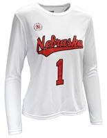 Ladies Nebraska Volleyball Home Jersey Top Nebraska Cornhuskers, Nebraska  Mens T-Shirts, Huskers  Mens T-Shirts, Nebraska  Mens, Huskers  Mens, Nebraska  Short Sleeve, Huskers  Short Sleeve, Nebraska Adidas, Huskers Adidas, Nebraska Ladies Nebraska Volleyball Jersey Top - White, Huskers Ladies Nebraska Volleyball Jersey Top - White