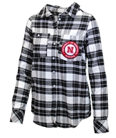 Ladies Nebraska Warm Up Flannel Shirt Nebraska Cornhuskers, Nebraska  Ladies Tops, Huskers  Ladies Tops, Nebraska Polos, Huskers Polos, Nebraska Ladies Nebraska Warm Up Flannel Shirt, Huskers Ladies Nebraska Warm Up Flannel Shirt