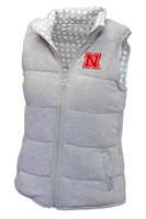 Ladies Reversible Plaid Nebraska Vest Nebraska Cornhuskers, Nebraska  Ladies Outerwear, Huskers  Ladies Outerwear, Nebraska  Ladies , Huskers  Ladies , Nebraska Ladies Reversible Plaid Nebraska Vest, Huskers Ladies Reversible Plaid Nebraska Vest