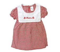Lil Gals Huskers Checkered Dress Nebraska Cornhuskers, Nebraska  Infant, Huskers  Infant, Nebraska Lil Gals Huskers Checkered Dress , Huskers Lil Gals Huskers Checkered Dress