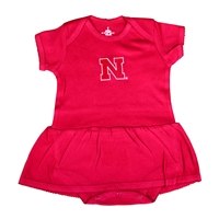 Lil Huskers Bodysuit Dress Nebraska Cornhuskers, Nebraska  Infant, Huskers  Infant, Nebraska Lil Huskers Bodysuit Dress, Huskers Lil Huskers Bodysuit Dress