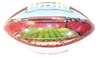 Memorial Stadium N Osborne Field Photo Football Nebraska Cornhuskers, Nebraska  Balls, Huskers  Balls, Nebraska Collectibles, Huskers Collectibles, Nebraska Stadium Photo Football Baden, Huskers Stadium Photo Football Baden