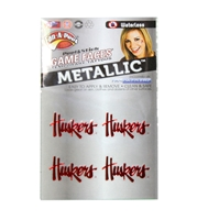 Metallic Huskers Waterless Tattoo Nebraska Cornhuskers, Nebraska Accessories, Huskers Accessories, Nebraska  Tattoos & Patches, Huskers  Tattoos & Patches, Nebraska Game Day, Huskers Game Day, Nebraska  Tattoos & Patches, Huskers  Tattoos & Patches, Nebraska New N Husker Waterless Tattoo, Huskers New N Husker Waterless Tattoo