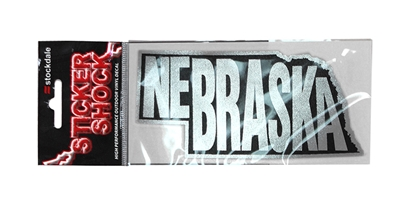 Metallic Nebraska State Window Decal Nebraska Cornhuskers, Nebraska Stickers Decals & Magnets, Huskers Stickers Decals & Magnets, Nebraska Metallic Nebraska State Window Decal, Huskers Metallic Nebraska State Window Decal
