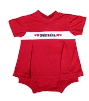 Nebraska Banner Pleated Dress Onesie Nebraska Cornhuskers, Nebraska  Infant, Huskers  Infant, Nebraska Nebraska Banner Pleated Dress Onesie, Huskers Nebraska Banner Pleated Dress Onesie