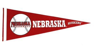 Nebraska Baseball Pennant Flag Nebraska Cornhuskers, Nebraska  Flags & Windsocks, Huskers  Flags & Windsocks, Nebraska  Prints & Posters, Huskers  Prints & Posters, Nebraska  Baseball, Huskers  Baseball, Nebraska Nebraska Baseball Pennant Flag, Huskers Nebraska Baseball Pennant Flag