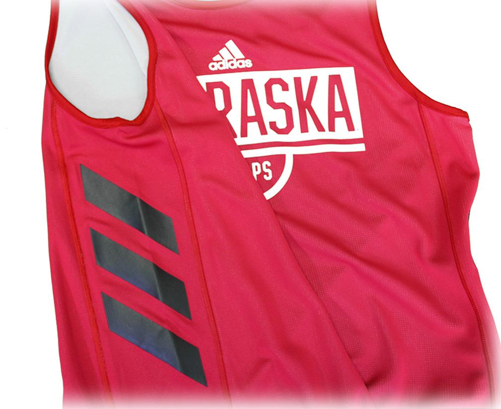 b5c4c6af081 ... Adidas 2018 Nebraska Basketball Reversible Practice Jersey - AS-B5119  ...
