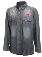 Nebraska Chambray Button Down LS Shirt Nebraska Cornhuskers, Nebraska  Mens Polos, Huskers  Mens Polos, Nebraska Polos, Huskers Polos, Nebraska Nebraska Chambray Button Down LS Shirt, Huskers Nebraska Chambray Button Down LS Shirt