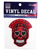 Nebraska Cinco De Mayo Decal Nebraska Cornhuskers, Nebraska Stickers Decals & Magnets, Huskers Stickers Decals & Magnets, Nebraska Sugar Skull Nebraska Decal, Huskers Sugar Skull Nebraska Decal
