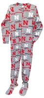Nebraska Cornhuskers Adult Fleece Onesie Nebraska Cornhuskers, Nebraska  Mens Underwear & PJs, Huskers  Mens Underwear & PJs, Nebraska  Ladies Underwear & PJs, Huskers  Ladies Underwear & PJs, Nebraska Nebraska Cornhuskers Adult Fleece Onesie, Huskers Nebraska Cornhuskers Adult Fleece Onesie